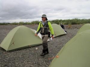 Brian striding through camp med res