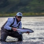 Chrome Coho caught near the estuary