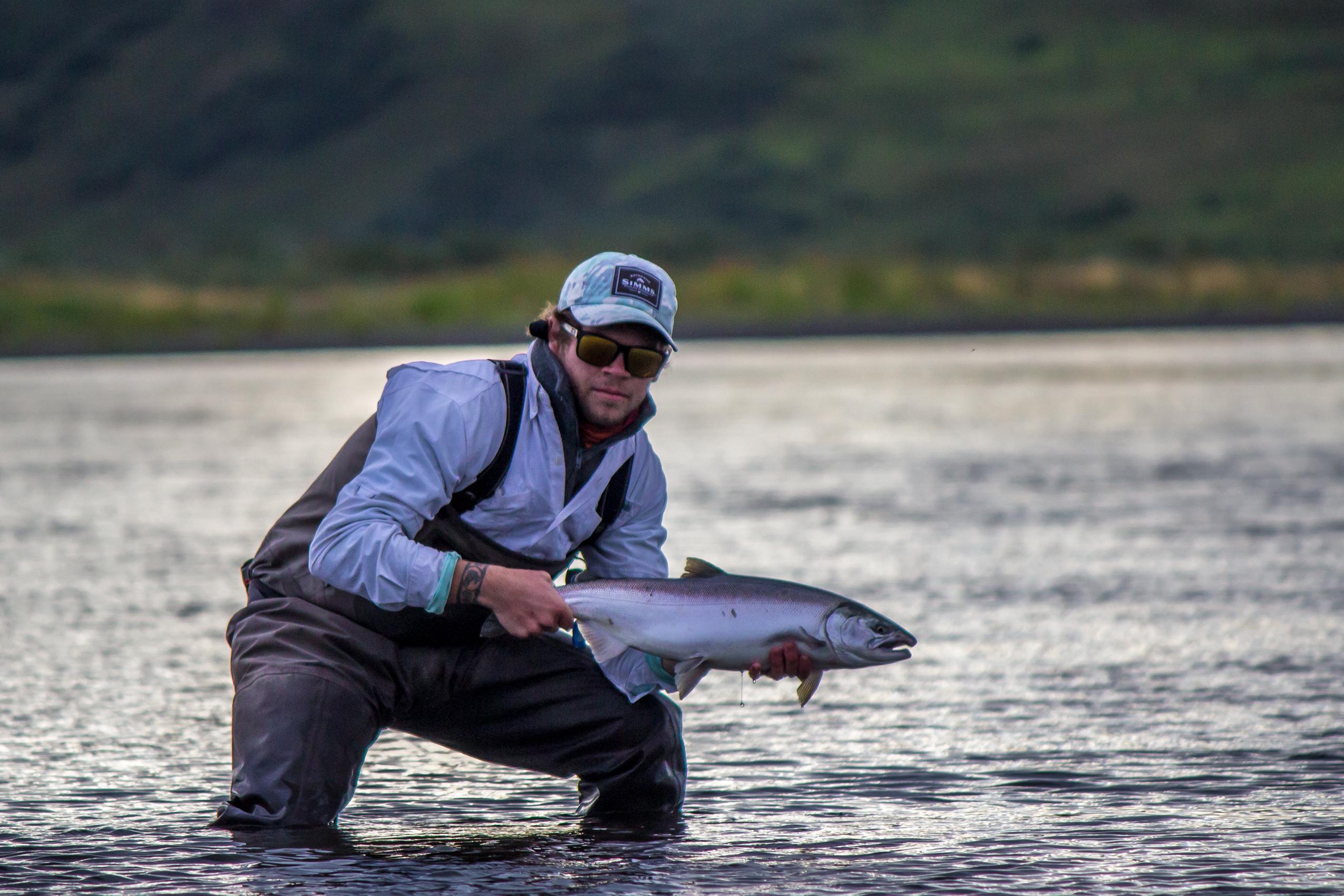 Chrome Coho caught near the estuary