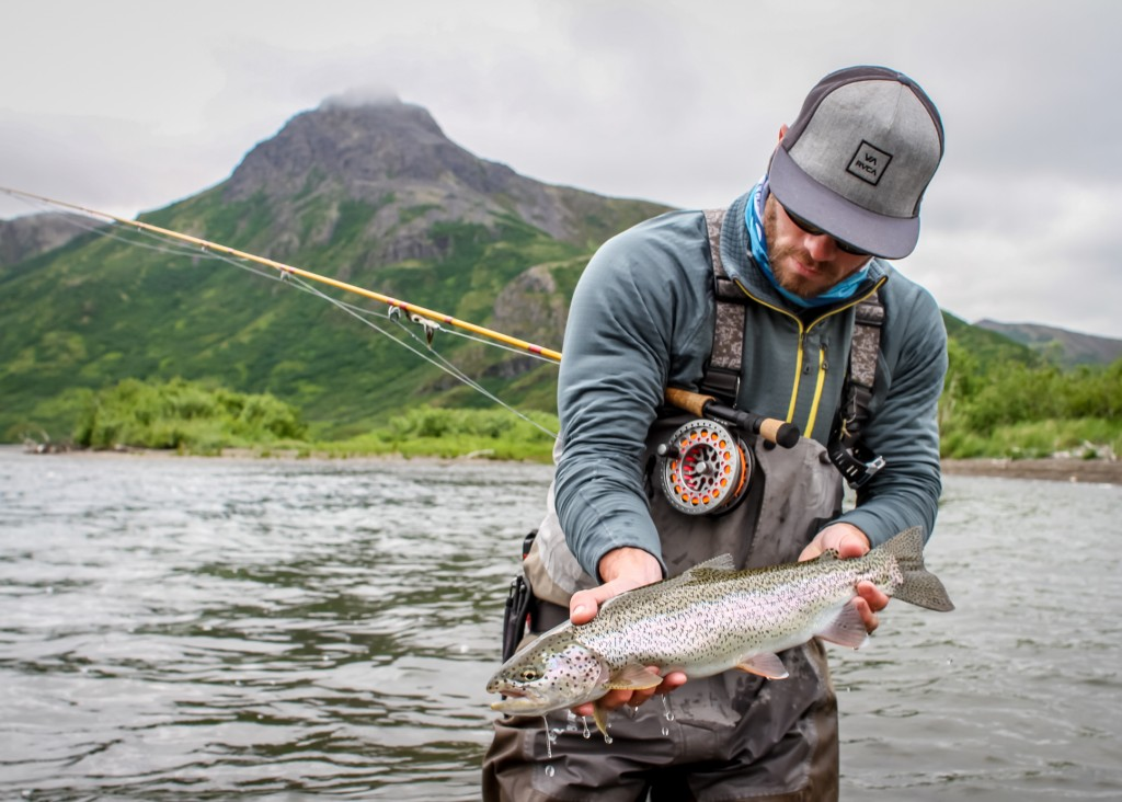 Author John Jinishian holds a western AK rainbow
