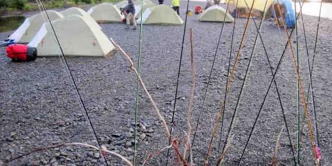Camp landfscape through fly rods copy
